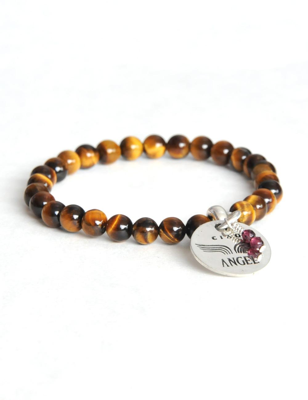 gem bracelet tiger eye ciao angel